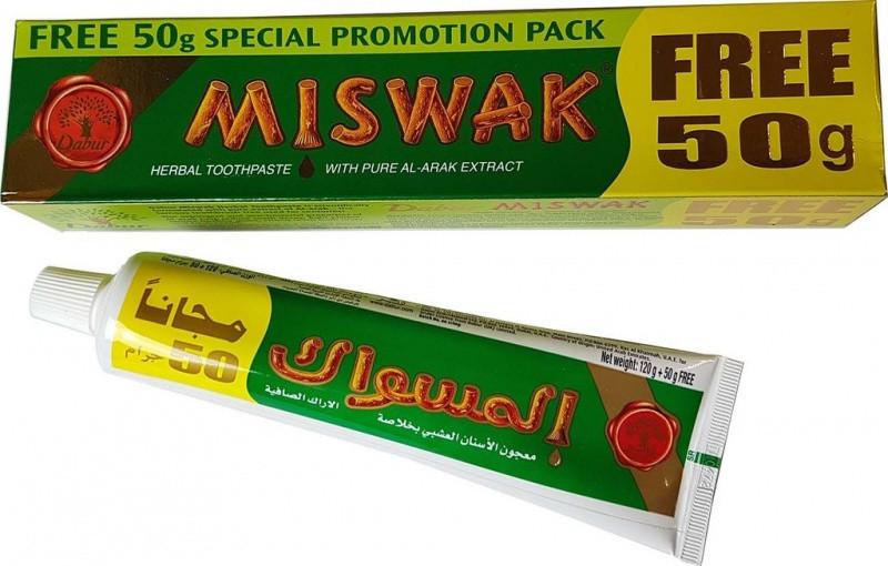 Зубная паста мисвак miswak 120 грамм + 50 грамм (большая упаковка) АКЦИЯ! 231587