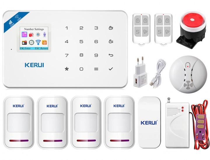 Комплект сигнализации Kerui Wi-Fi W18 Pro Super для 3-комнатной квартиры! Гарантия 24 месяца!