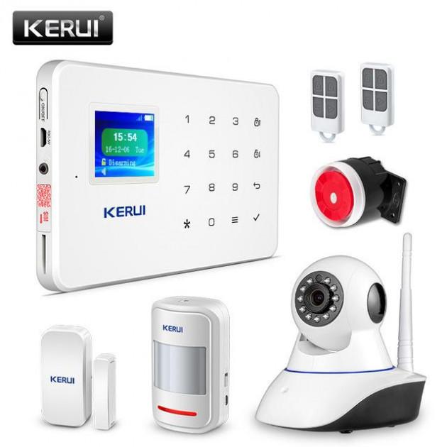 Комплект сигналізації Kerui alarm W18 c Wi-Fi + Wi-Fi IP-камера