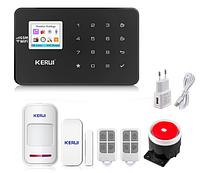 Комплект сигнализации Kerui alarm W18 Start черная! Гарантия 24 месяца!