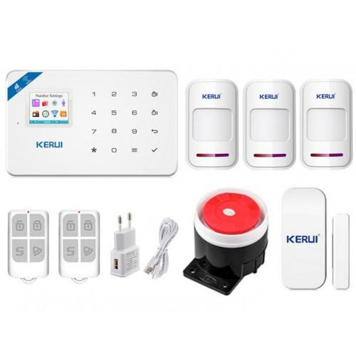 Комплект Сигнализации Kerui Wi-Fi W18 Для 2-Комнатной Квартиры! Гарантия 24 месяца!