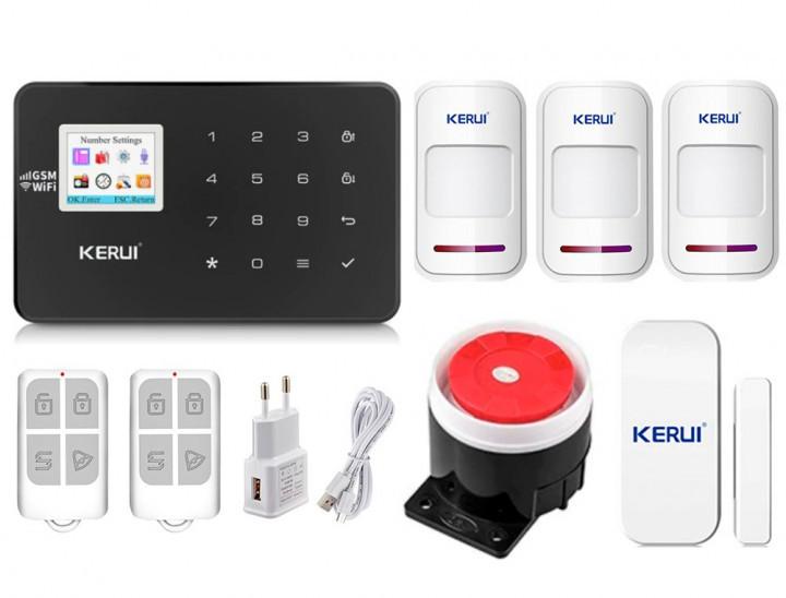 Комплект сигналізації Kerui Wi-Fi W18 для 2-кімнатної квартири чорна! Гарантія 24 місяці!