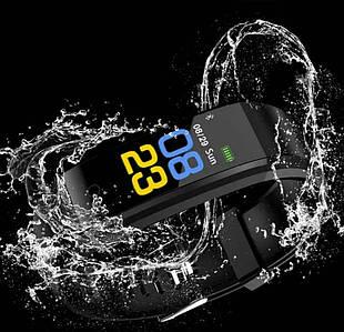 Годинник фітнес браслет з вимірюванням пульсу і тиску Smart Band B05 Чорний