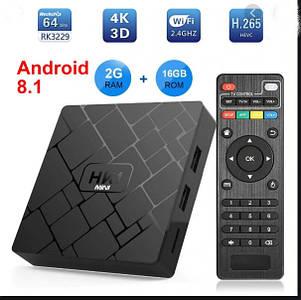 Смарт тв бокс HK1 mini. Смарт ТВ приставка HK1 2G 16G S905W Android 7.1