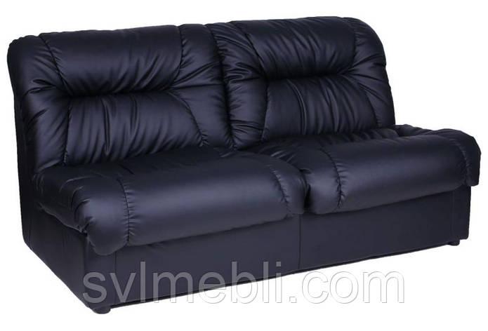 Диван Визит экокожа черный, фото 2