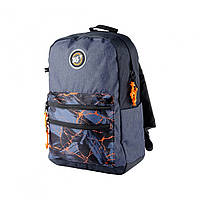Рюкзак молодежный для парня YES 558400 T-100 Double серый/черный