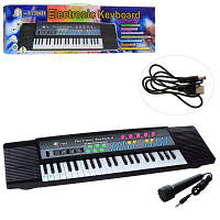 Синтезатор MQ-3738D 44 клавіші, 63 см, мікрофон, запис демо,USB зар,від мережі, в кор-ке 63-18-6 см