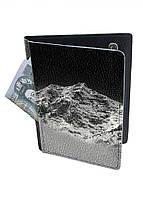 Обложка-холдер на паспорт, тревел-кейс из натуральной кожи с отделениями для карточек ReD Горная даль