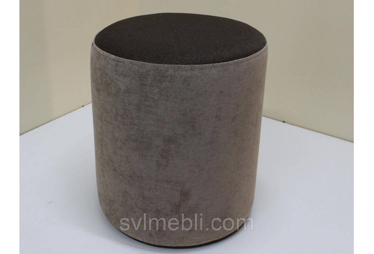 Пуф Д36 велюр Ø38 см х 46 см коричневый