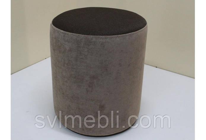 Пуф Д36 велюр Ø38 см х 46 см коричневый, фото 2
