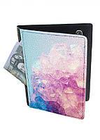 Обложка-холдер на паспорт, тревел-кейс из натуральной кожи с отделениями для карточек ReD Кристалл