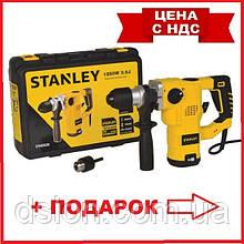 Перфоратор сетевой STANLEY STHR323K, SDS-Plus, 1250 Вт, 3.5 Дж, 3 режима, чемодан, вес 5.4 кг