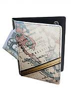Обложка-холдер на паспорт, тревел-кейс из натуральной кожи с отделениями для карточек ReD Глобус