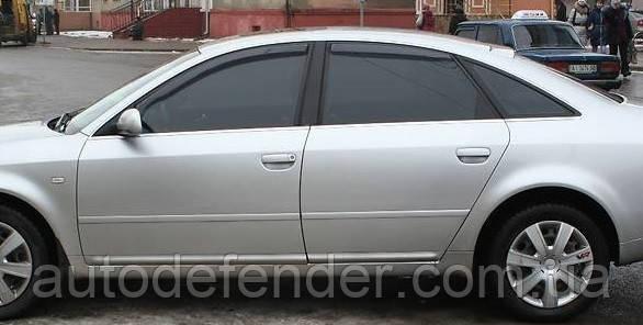 Дефлекторы окон (вставные!) ветровики Audi A6 (C5) 1997-2004 4D 4шт. Sedan, HEKO, 10213