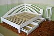 """Большая двуспальная кровать из массива дерева """"Радуга"""" угловая, фото 5"""