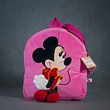 Рюкзак детский Микки Минни Маус розовый 35 см, фото 3