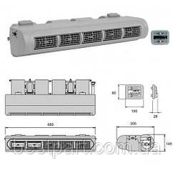 Испаритель универсальный на 5 дефлекторов 6,5 кВт, 12V