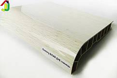 Подоконник Sauberg (Ламинация) Белый Дуб Глянцевый 550 мм влагостойкий, термостойкий, для окон