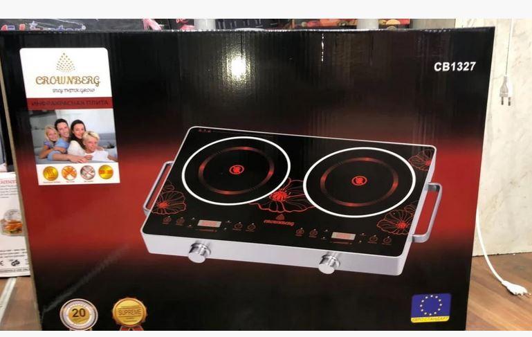 Інфрачервона плита Crownberg CB-1327 (дві конфорки по 2000 Вт)
