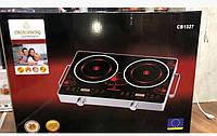 Інфрачервона плита Crownberg CB-1327 (дві конфорки по 2000 Вт), фото 1