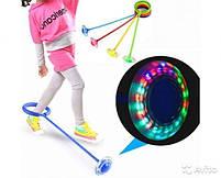 Дитяча світиться скакалка на одну ногу LED підсвітка червона Нейроскакалка, фото 5