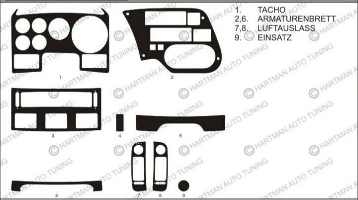 Наклейки на панель DAF 95 XF 1997-2002