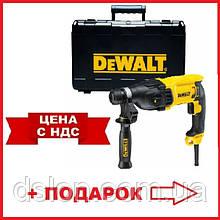 Перфоратор сетевой DeWALT D25133K, SDS-Plus, 800 Вт, 2.6 Дж, 3 режима, чемодан, вес 2.6 кг