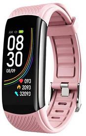 Фітнес браслет Smart C-6 Termometr Pink