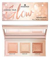 Essence Choose Your Glow! Highlighter Palette Палетка хайлайтеров, фото 1
