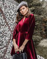 Вечернее платье бархатное/велюровое с Vобразным вырезом, для пышных форм размер 42-74+ батал, большой размер, фото 1