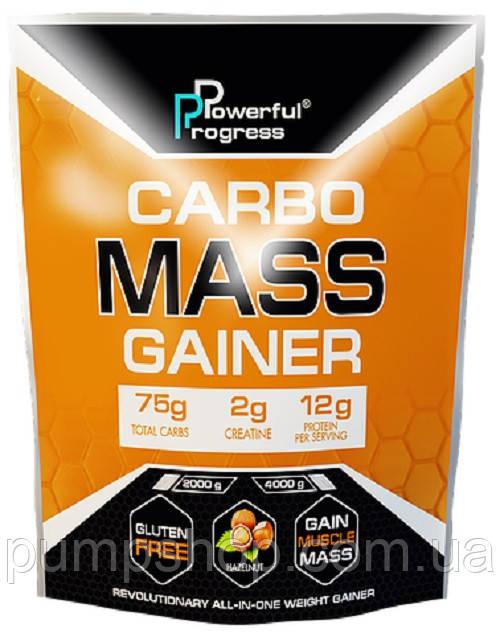 Вітамінний високо-вуглеводний Powerful Progress Carbo Mass Gainer 2000 м (12% білка)