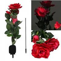 Светодиодный светильник Rose red на солнечной батарее