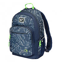 Рюкзак молодежный YES 558355 T-57 Strokes черно-синий
