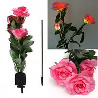 Светодиодный светильник Rose pink на солнечной батарее