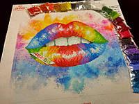"""Набор """"Красочные губы"""" для вышивки бисером"""