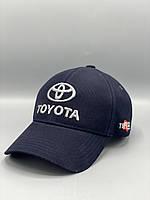 Автомобильная кепка бейсболка Тойота Toyota темно синяя