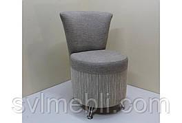 Кресло Риччи, велюр серый, ножки венге