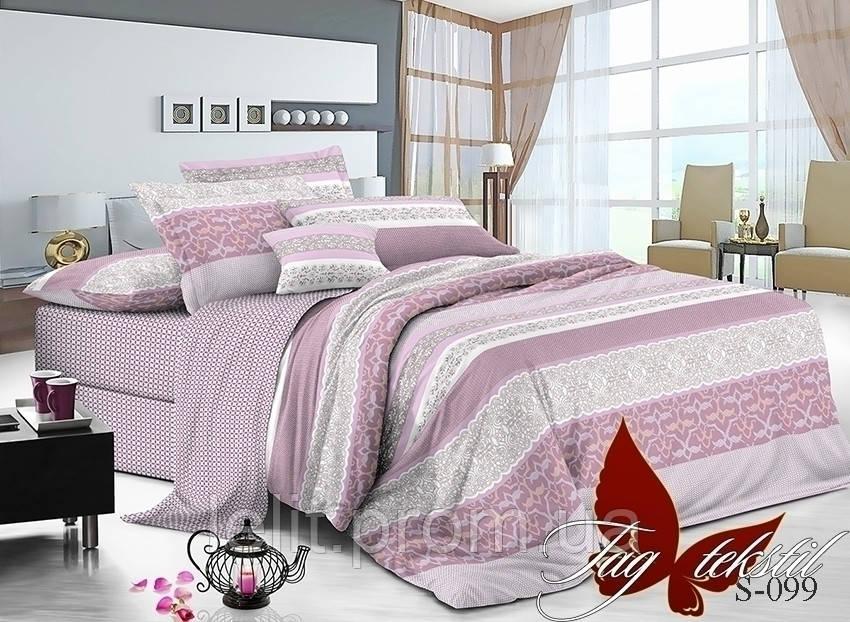 Полуторный комплект постельного белья с компаньоном S-099