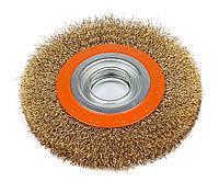 Щетка кольцевая по металлу для УШМ (болгарки) 150х32 мм гофрированная рифленая проволока Polax (54-078)