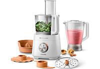 Комбайн кухонный Philips HR7510/00 (800Вт, чаша 2.1л, блендер 1.5л, 3 скорости, терки, шинковки, цитрус-пресс)