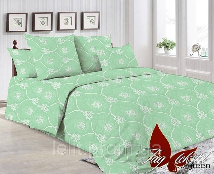 Двуспальный комплект постельного белья R7005 green