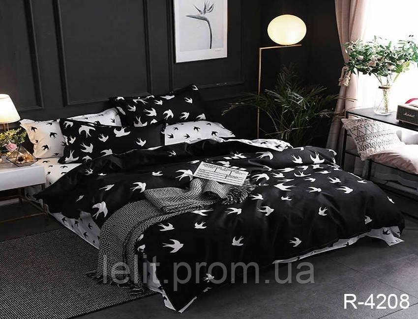 Евро комплект постельного белья с компаньоном R4208