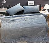 Двуспальный комплект постельного белья зима-лето Light blue, фото 2