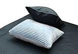 Двуспальный комплект постельного белья зима-лето Light blue, фото 4