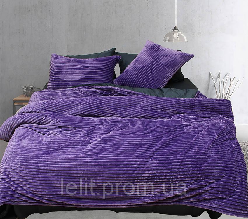Евро комплект постельного белья зима-лето Violet