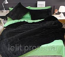 Евро комплект постельного белья зима-лето Black