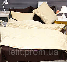 Евро комплект постельного белья зима-лето Beige