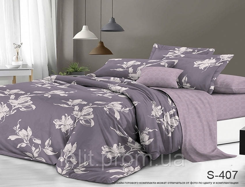 Полуторный комплект постельного белья с компаньоном S407