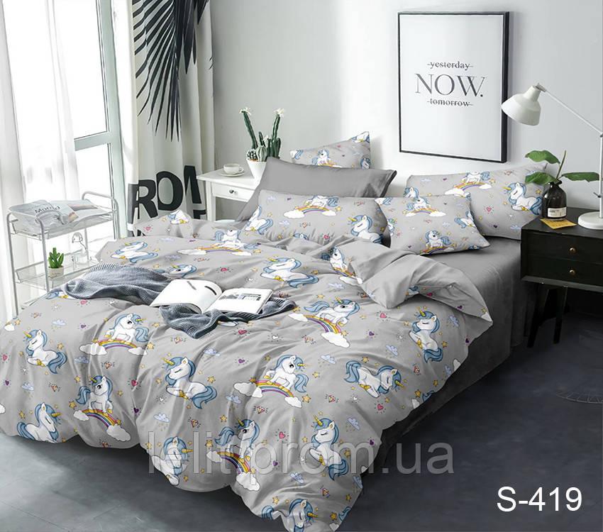 Детский полуторный комплект постельного белья с компаньоном S419