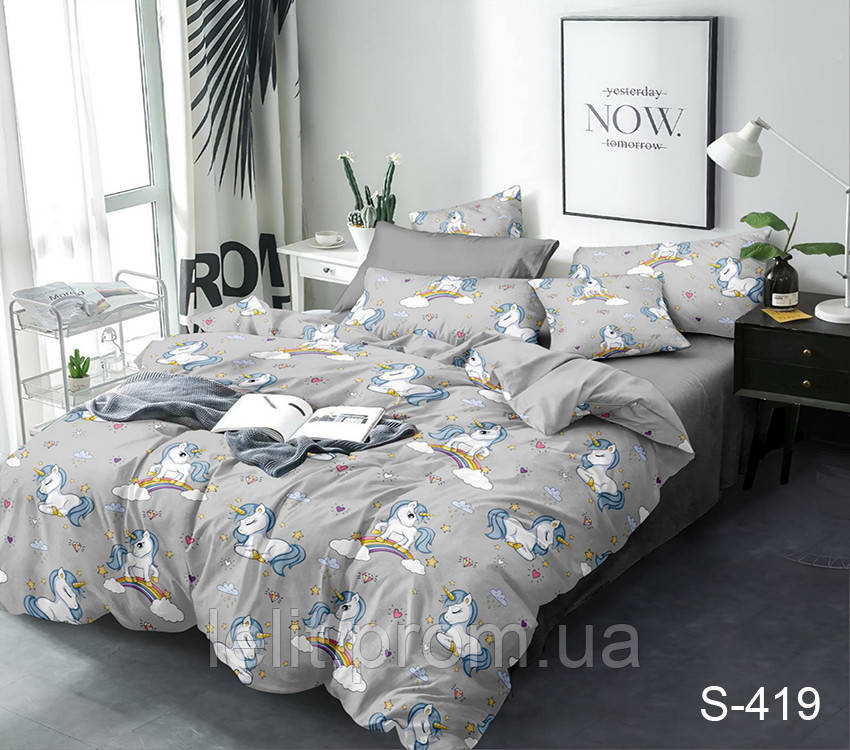 Семейный комплект постельного белья с компаньоном S419